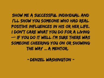 you need a mentor and coach